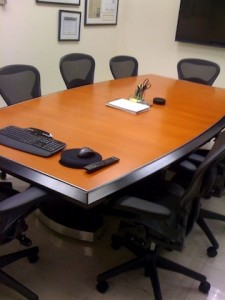 wood custom conference table