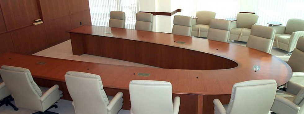 Crossmark V Shaped Custom Conference Room Table