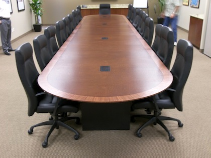 Racetrackconference Tablewoodbacardi HardroxHardrox - Elliptical conference table