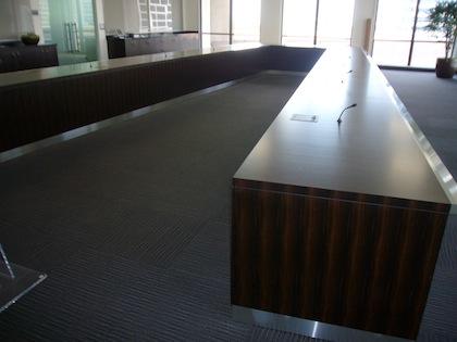 Ushapedconferencetablewoodstainlessoncor HardroxHardrox - V shaped conference room table